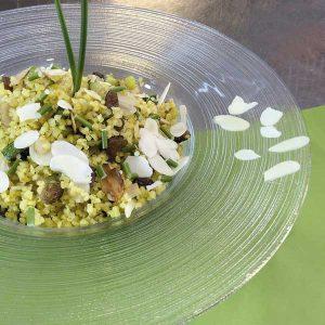 Immagine della ricetta del Bulgur con zucchine uvetta e mandorle