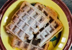 waffle sul piatto