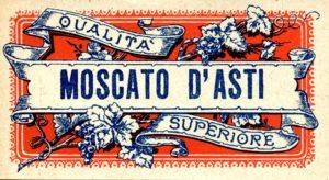 Immagine di una vecchia etichetta di Moscato d'Asti superiore