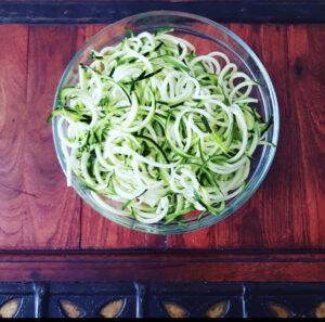 Immagine di zucchine affettate