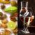 Alcolici in bicchiere e spezie
