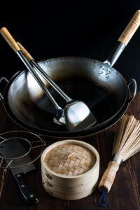 Immagine di attrezzi per il wok