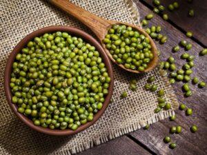 immagine di fagioli mung verdi