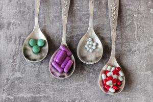 Immagine di medicine in pastiglie da mangiare