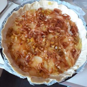 Immagine torta salata in preparazione