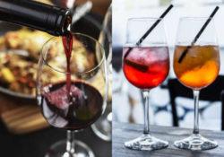 Immagine vino in aperitivo